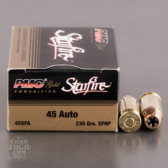 20rds - 45 ACP PMC Starfire 230gr Hollow Point Ammo