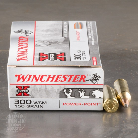 20rds - 300 WSM Winchester Super-X 150gr. Power-Point Ammo