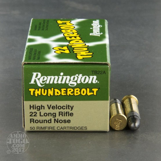 50rds - 22LR Remington Thunderbolt 40gr. Round Nose Ammo