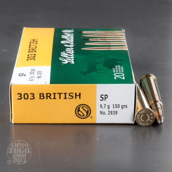 20rds - 303 British Sellier & Bellot 150gr. Soft Point Ammo