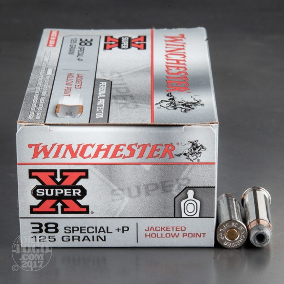 50rds - 38 Special Winchester Super-X 125gr. +P Hollow Point
