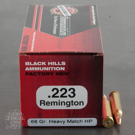 1000rds - 223 Black Hills 68gr. Heavy Match Hollow Point Ammo