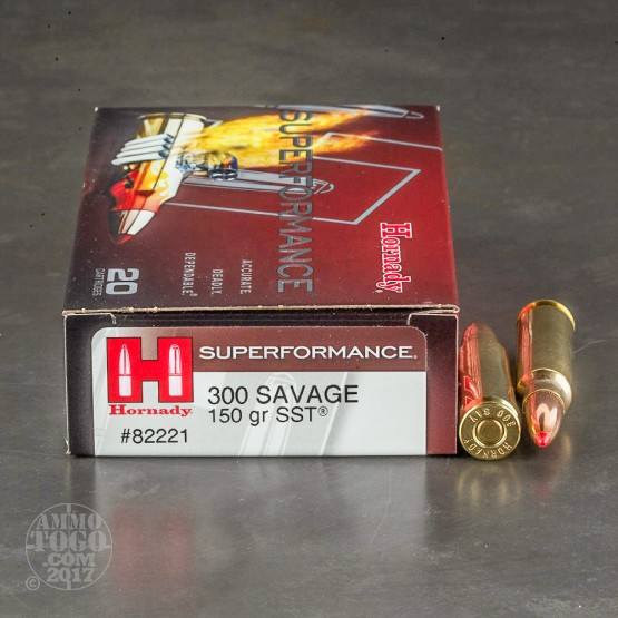 20rds - 300 Savage Hornady Superformance 150gr. SST Polymer Tip Ammo