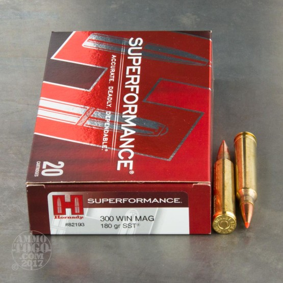 20rds - 300 Win Mag Hornady Superformance 180gr. SST Ammo