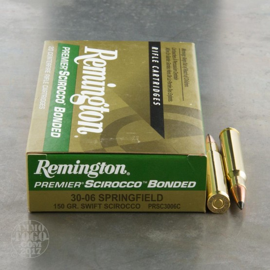 20rds - 30-06 Remington 150gr. Scirocco Bonded Ammo