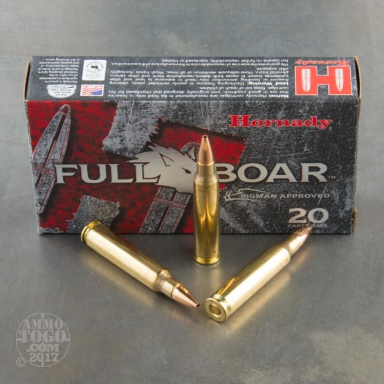20rds - 223 Remington Hornady Full Boar 50gr. GMX Ammo