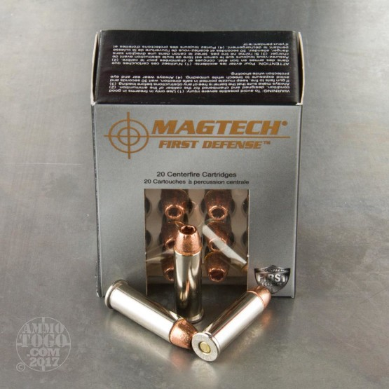 20rds - 38 Special MAGTECH 95gr. +P First Defense Solid Copper HP Ammo
