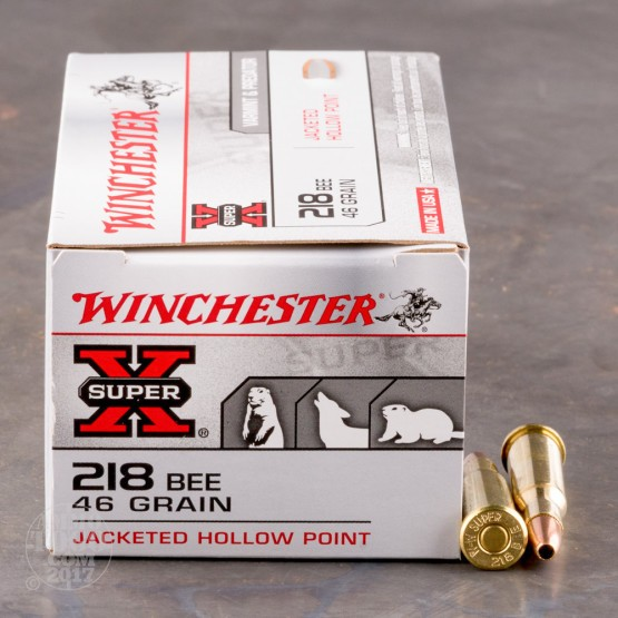 50rds - 218 Bee Winchester Super-X 46gr. Hollow Point Ammo