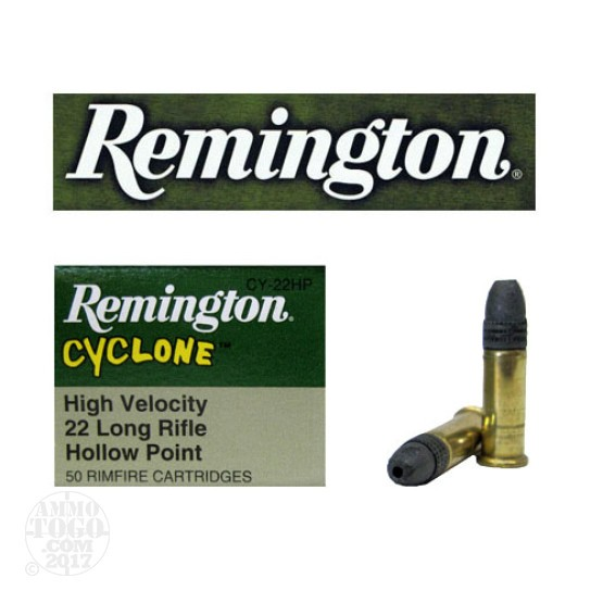 50rds - 22LR Remington Cyclone 36gr. Lead Hollow Point Ammo