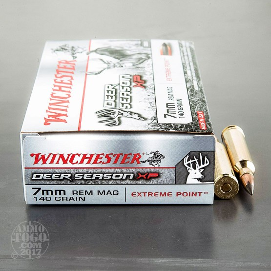 20rds – 7mm Remington Magnum Winchester Deer Season XP 140gr. Extreme Point Polymer Tip Ammo