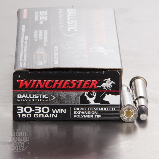 100rds - 30-30 Winchester Super-X 150gr. Silver Tip Ammo