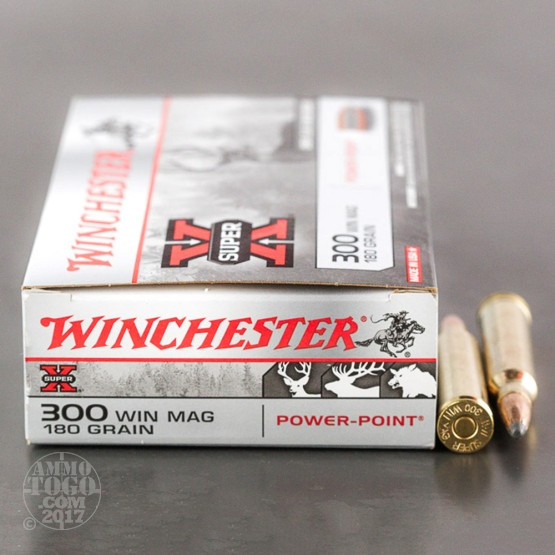 20rds - 300 Win. Mag. Winchester 180gr. Super-X Power Point Ammo