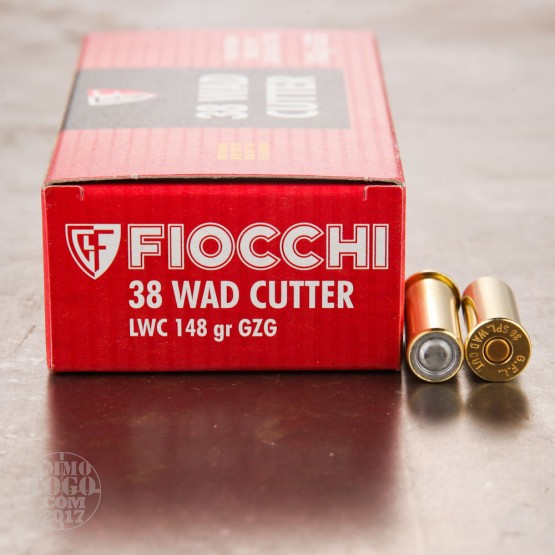 50rds - 38 Special Fiocchi 148gr. Lead Wadcutter Ammo