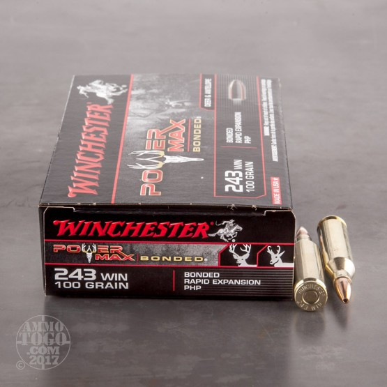 20rds - 243 Winchester 100gr. Super-X Power Max Bonded HP Ammo