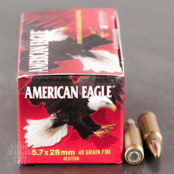 500rds - 5.7x28mm Federal American Eagle 40gr. TMJ Ammo