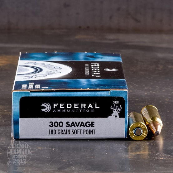 20rds - 300 Savage Federal Power-Shok 180gr. Soft Point Ammo