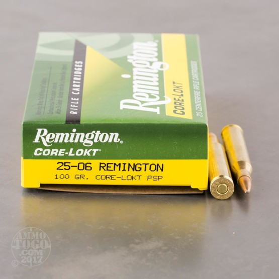20rds - 25-06 Remington 100gr. Core-Lokt PSP Ammo