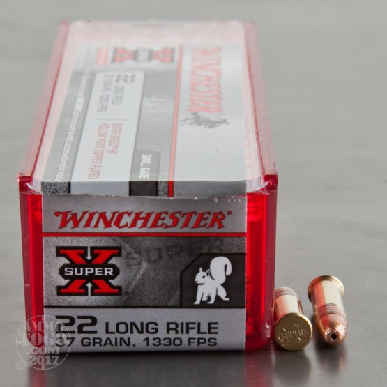 500rds - 22LR Winchester 37gr. Super-X SuperSpeed HP Ammo