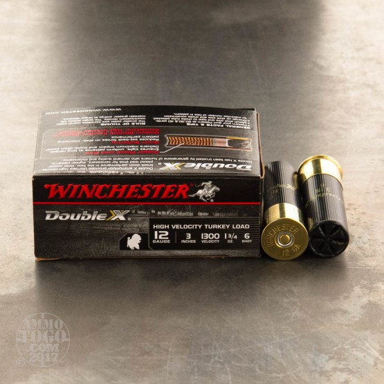 "10rds - 12 Gauge Winchester Double-X Turkey 1 3/4 Ounce 3"" #6 Shot Ammo"