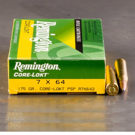 20rds - 7x64 Remington Express Core-Lokt 175gr. PSP Ammo