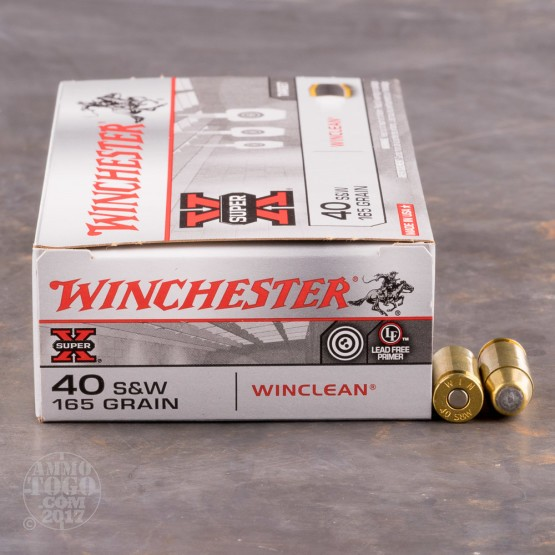 500rds - 40 S&W Winchester USA 165gr. BEB (FMJ) Ammo