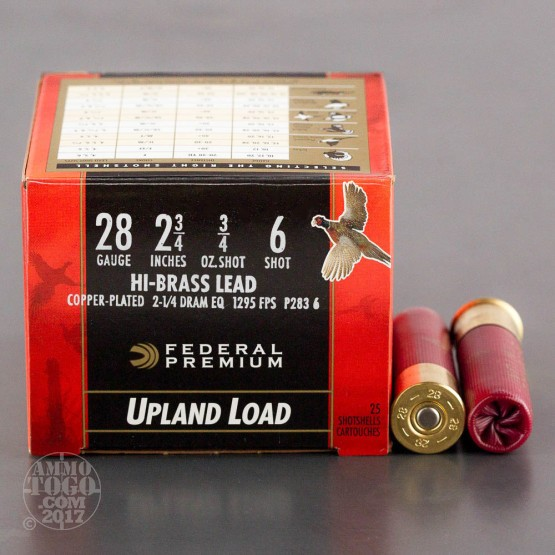 "25rds – 28 Gauge Federal Wing-Shok 2-3/4"" 3/4 oz #6 Shot Ammo"