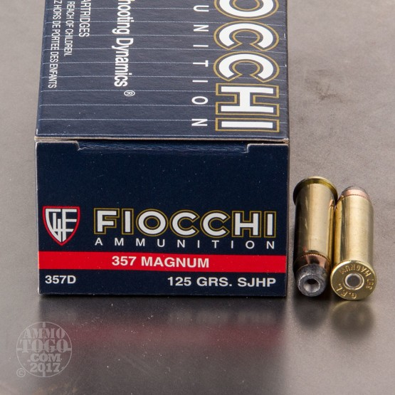 1000rds - 357 Magnum Fiocchi 125gr Semi Jacketed Hollow Point Ammo