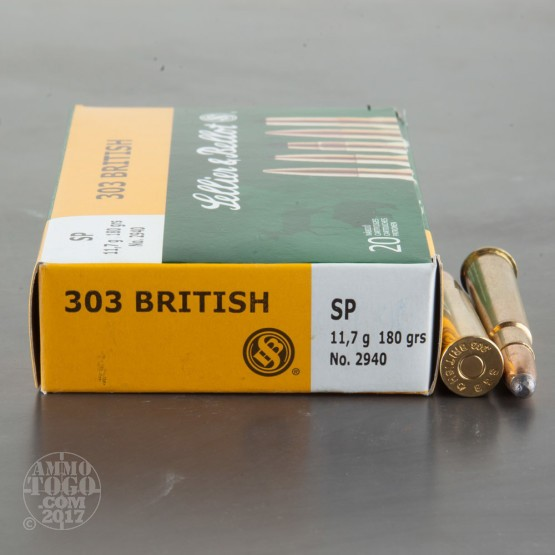 20rds - 303 British Sellier & Bellot 180gr. Soft Point Ammo