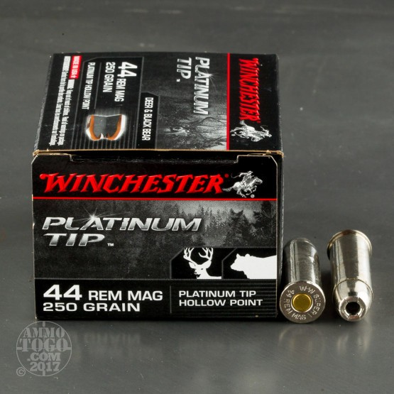 20rds - 44 Mag Winchester Supreme 250gr. Platinum Tip HP Ammo