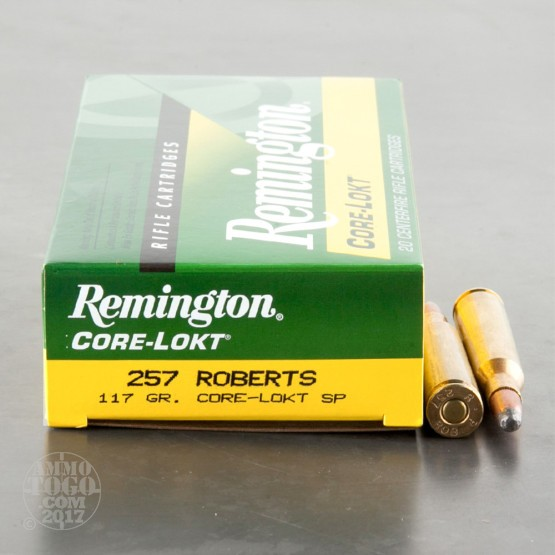 20rds - 257 Roberts Remington 117gr. Core-Lokt Soft Point Ammo