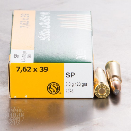 20rds - 7.62x39 Sellier & Bellot 123gr. SP Ammo