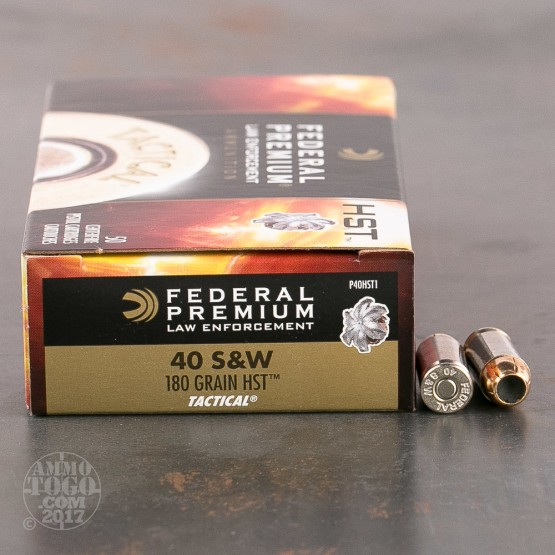 1000rds - 40 S&W Federal Premium Law Enforcement HST 180gr. JHP Ammo