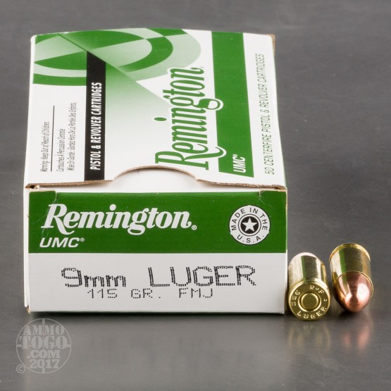 500rds - 9mm Remington UMC 115gr. FMJ Ammo