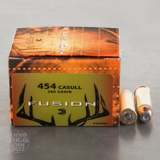 20rds - 454 Casull Federal Fusion 260gr. SP Ammo