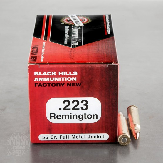 500rds - 223 Black Hills 55gr. Full Metal Jacket Ammo