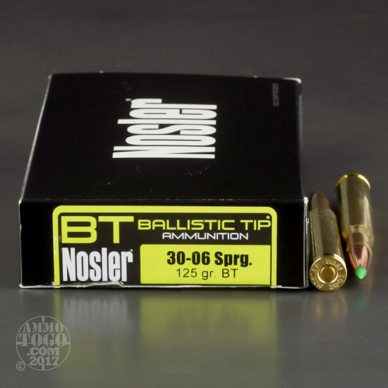 20rds – 30-06 Springfield Nosler Hunting 125gr. Ballistic Tip Ammo