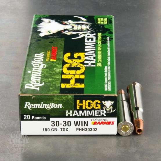 20rds - 30-30 Remington Hog Hammer 150gr. TSX HP Ammo