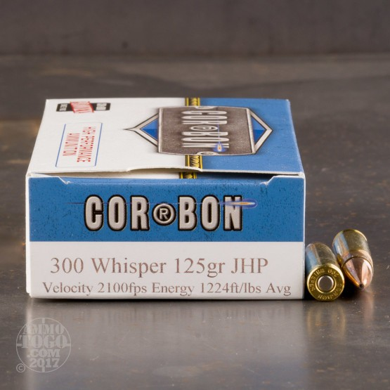 20rds - 300 Whisper Corbon 125gr. JHP Ammo