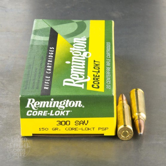 20rds - 300 Savage Remington Core-Lokt 150gr. Pointed Soft Point Ammo