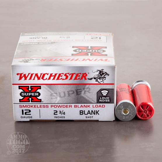 "25rds - 12 Gauge Winchester Super-X 2 3/4"" Blank Ammo"
