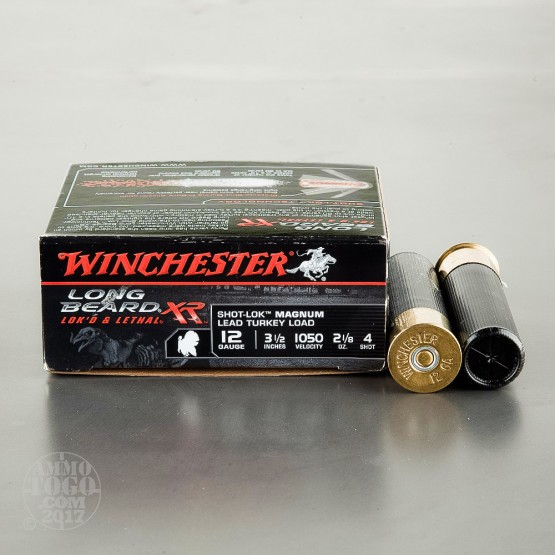 "10rds – 12 Gauge Winchester Long Beard XR 3-1/2"" 2-1/8 oz. #4 shot Ammo"