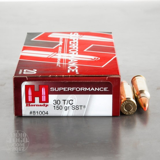 20rds - 30 Thompson Center Hornady 150gr. SST Ammo