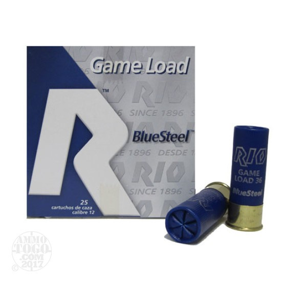 "25rds - 12 Ga. Rio Royal BlueSteel 2 3/4"" 1 1/4oz #3 Steel Shot Ammo"