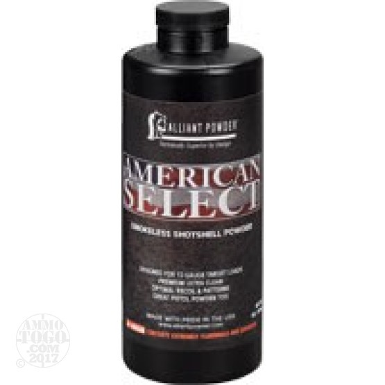 8 lbs - Alliant American Select Shotgun Powder