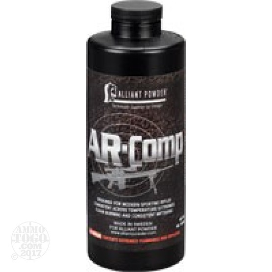 8 lbs – Alliant AR-Comp Rifle Powder