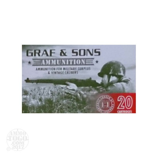 20rds - 7.5X55 Graff & Sons 165gr. BT Soft Point Ammo