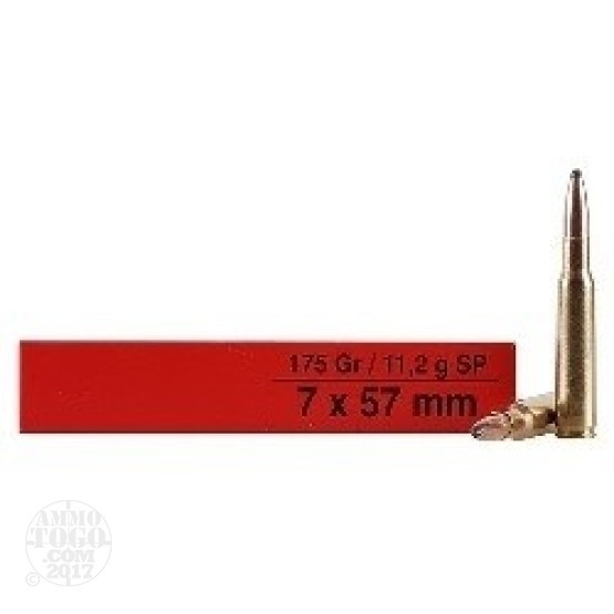200rds - 7mm Mauser Igman 175gr. Soft Point Ammo