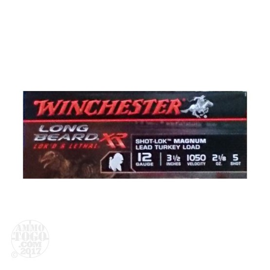 "10rds – 12 Gauge Winchester Long Beard XR 3-1/2"" #5 Shot Ammo"
