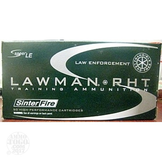 1000rds - 9mm Speer Lawman 100gr. RHT Frangible Ammo