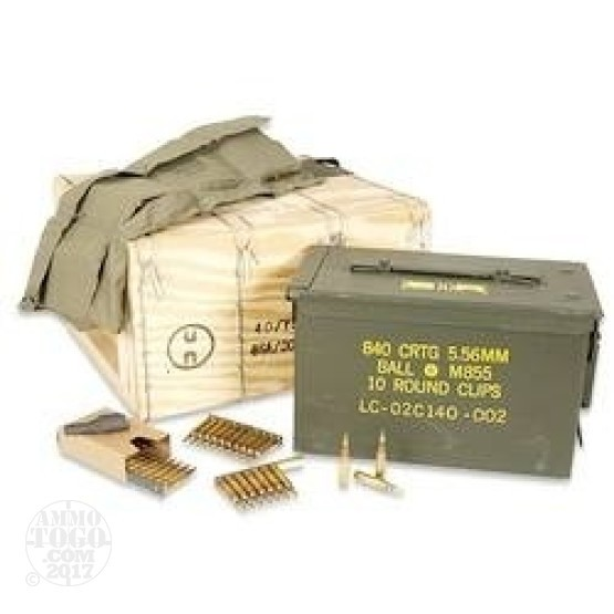 120rds - .223 Lake City M855 on stripper clips in Bando's